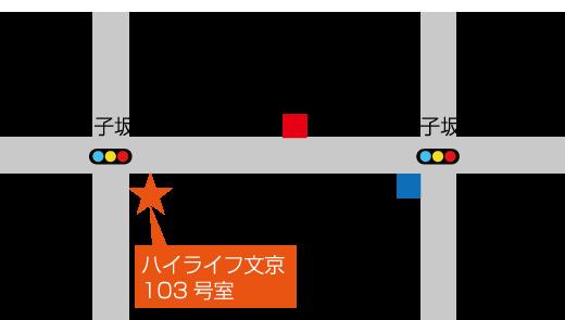 千駄木地図